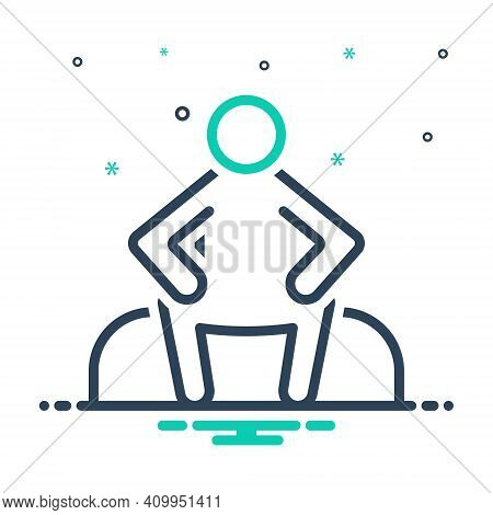 Mix Icon For Sit Sit-down Relax Chair Rest Alone  Lonely Single Unhappy Sitting