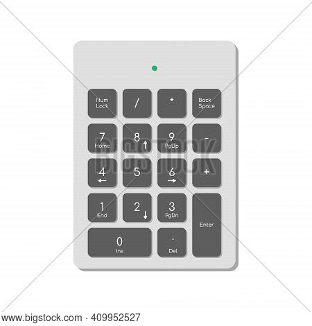 Wireless Digital Keyboard For Computer Complete With Numbers, Function Keys And Power Indicator. A M