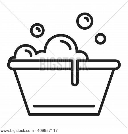 Plastic Basin Icon Vector Isolated. Soap Water