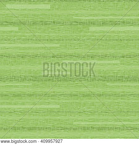Seamless Background With Abstract Pattern. Geometric Green Print With Lines And Checks. Texture Of C