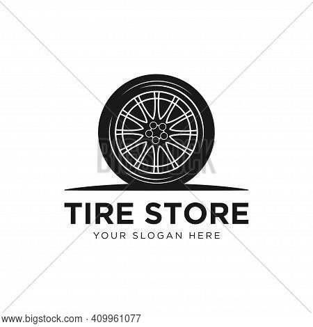 Tyre Shop Logo Design - Tyre Business Branding, Tire Logo Shop Icons, Tire Icons, Car Tire Simple Ic