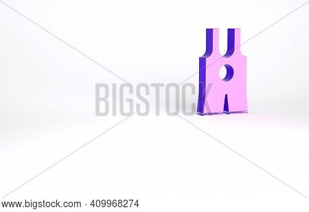 Purple Wrestling Singlet Icon Isolated On White Background. Wrestling Tricot. Minimalism Concept. 3d