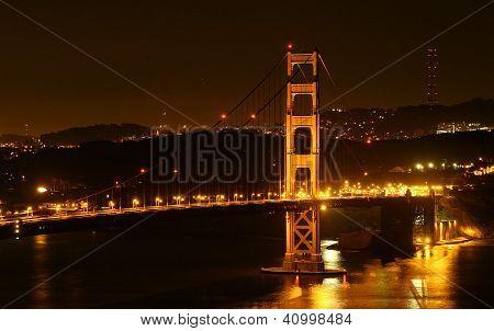Predawn Gold Gate Bridge