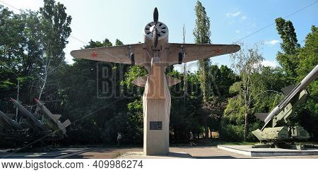 Odessa, Ukraine - June 24, 2019: This Is A I-16 Fighter Aircraft Used In World War Ii At The Site Of
