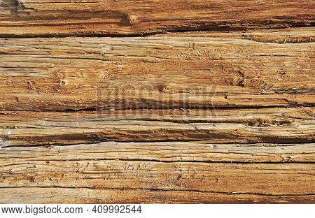 Weathered Obsolete Rough Textured Wooden Board Grunge Background