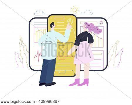 Medical Reports Application -medical Insurance Illustration -modern Flat Vector Concept Digital Illu