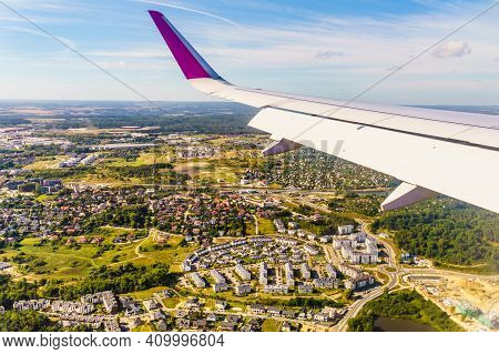 View From An Airplane Window To Poland
