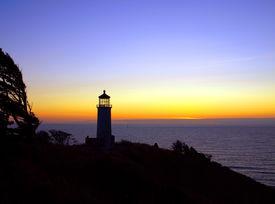 North Head Lighthouse On The Washington Coast At Sunset