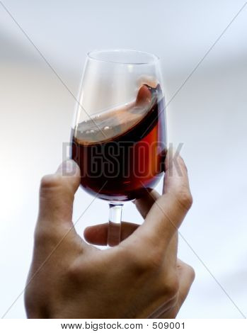 Red Tinto Wine Glass