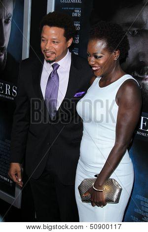 LOS ANGELES - SEP 12:  Terrence Howard, Viola Davis at the