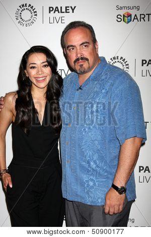 LOS ANGELES - SEP 12:  Aimee Garcia, David Zayas at the PaleyFest Fall Previews:  Fall Farwell-