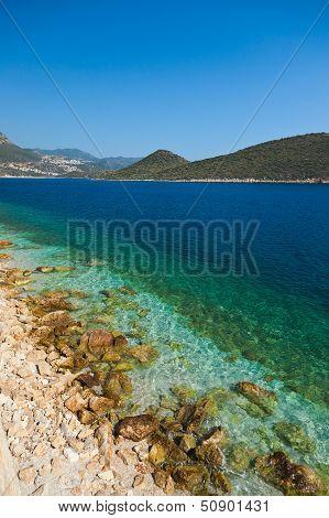 Beach At Kash Turkey