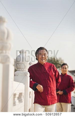 Portrait of two senior Taijiquan practitioners in Beijing