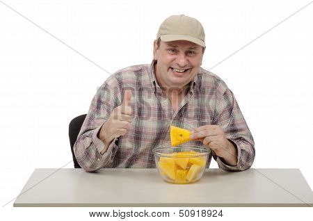 Man Likes Yellow Watermelons