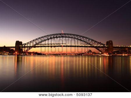 Sydney Harbour Bridge At Sunrise.