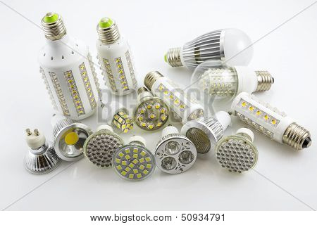 Led Lamps Gu10 And E27  With A Different Chip Technology Also Construction