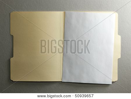 Manila file folder on background