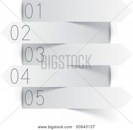 Vector illustration of white paper infographics template design. Eps10