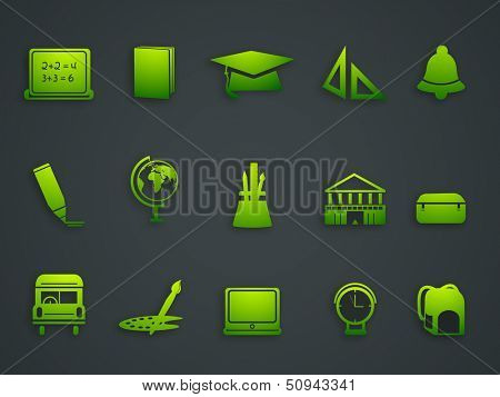 Ecology and recycle icons.  poster