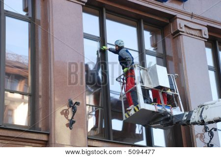 Cleaning Of Windows.