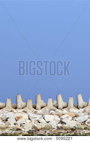 Breakwater. Harbor Wall, Protection