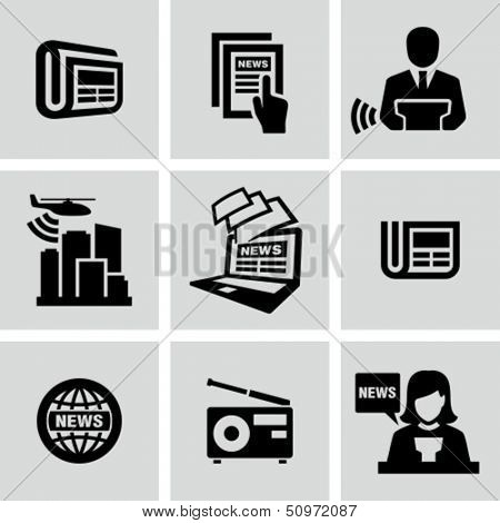 News, newspaper icons