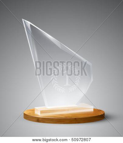 vector glass trophy