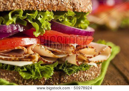 Homemade Turkey Sandwich