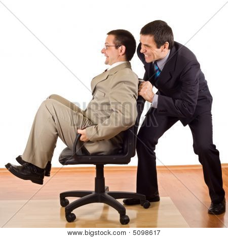 Two Businessmen Relaxing