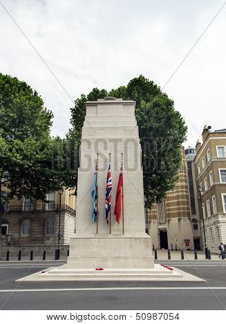 The Cenotaph memorial on Whitehall London UK poster