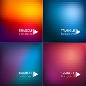 Abstract triangle backgrounds set II - eps10