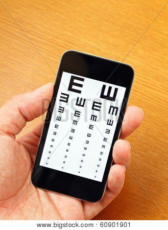 Eyechart on mobile