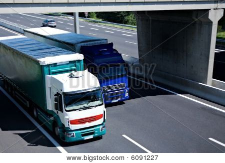 Two Semi Trucks