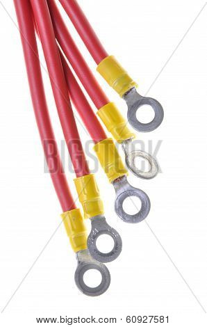 Electric cables with insulated ring terminal lug