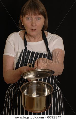 Cook with saucepan
