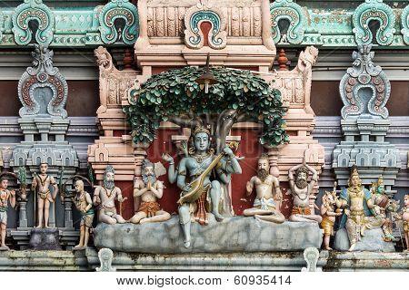 Dhakshinamoorthy Statue On The Gopuram.