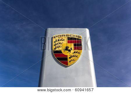 Porsche Automobile Dealership Sign