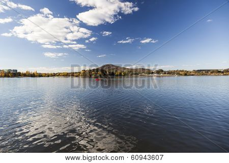 Burley Griffin Lake Near National Gallery. Canberra. Australia