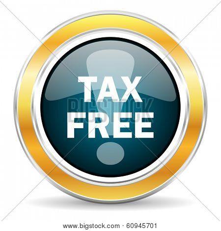 tax free icon poster