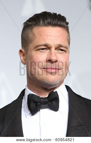 LOS ANGELES - MAR 2:: Brad Pitt  in the press room at the 86th Annual Academy Awards on March 2, 2014 in Los Angeles, California