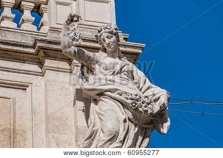 Trevi Fountain, The Baroque Fountain In Rome, Italy.