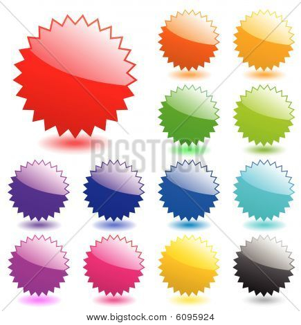 Multicolored glossy web elements. Perfect for adding text, icons. Vector aqua style. More in my gall