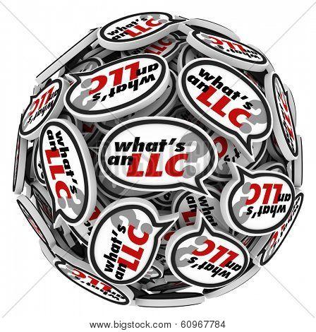 Whats an LLC Question Speech Bubble Sphere Business Advice