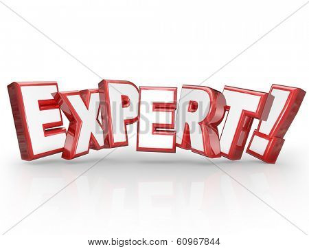 Expert Word 3D Letters Skill Experience Expertise