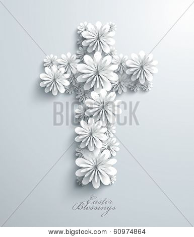 Vector Floral Cross
