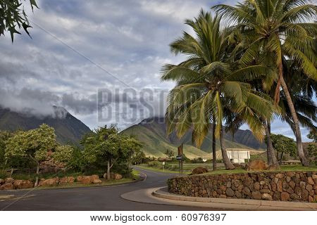 Road into the West Maui Mountains from lahaina