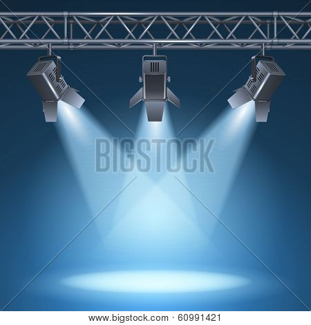 stage with lights