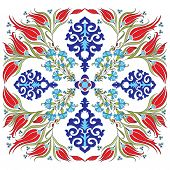 created with traditional Ottoman motifs pattern series poster