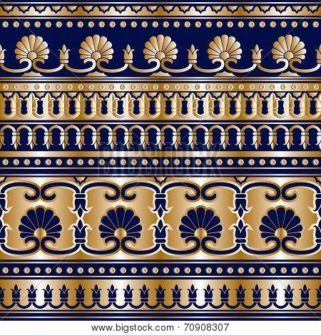 Gold Greek seamless