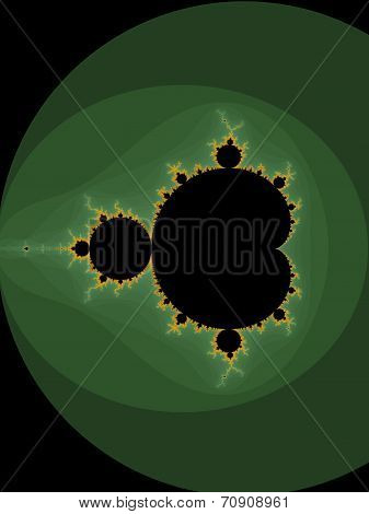 Decorative fractal background in a dark - green colors
